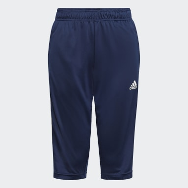 Kids Football Blue Tiro 21 3/4 Pants