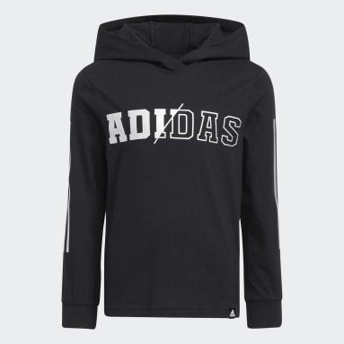 Children Training Black Hooded Tee