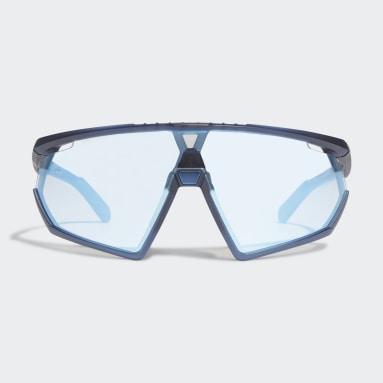 Padel-Tennis SP0001 Matte Blue Injected Sportsonnenbrille Blau