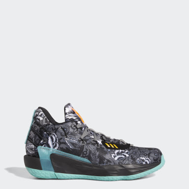 Zapatillas Dame 7 Floral Negro Basketball