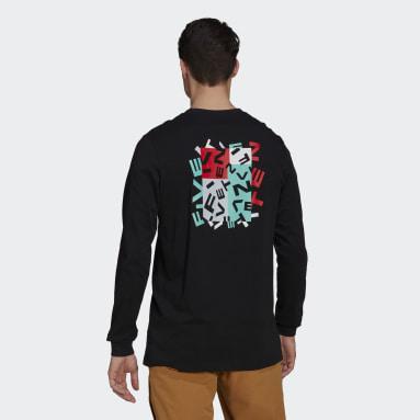Men Five Ten Black Five Ten Graphic Long Sleeve Tee