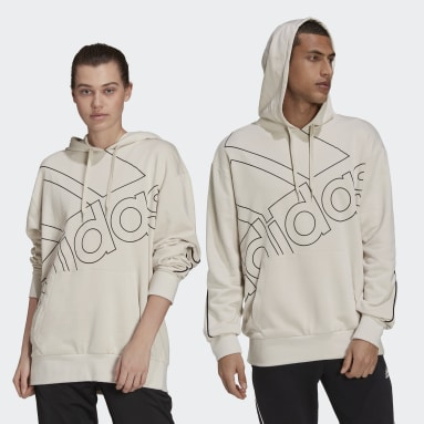 Sportswear Beige Giant Logo Hoodie (Gender Neutral)