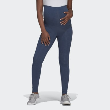 Women's Essentials Blue Essentials Cotton Leggings (Maternity)