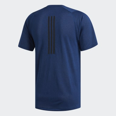 Heren Veld Hockey Blauw FreeLift Tech Climalite Fitted T-shirt