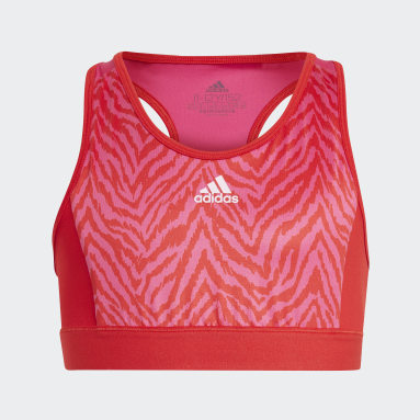 Youth 8-16 Years Gym & Training Red Designed 2 Move Bra Top
