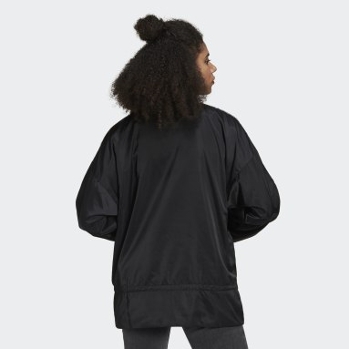 Women Originals Black Half-Zip Windbreaker