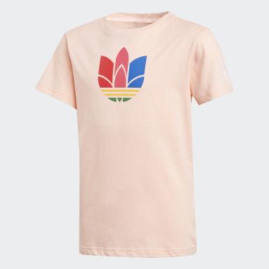 Meisjes Originals Roze Adicolor 3D Trefoil T-shirt