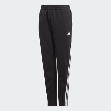 Kluci Cvičení A Trénink černá Legíny 3-Stripes Doubleknit Tapered Leg