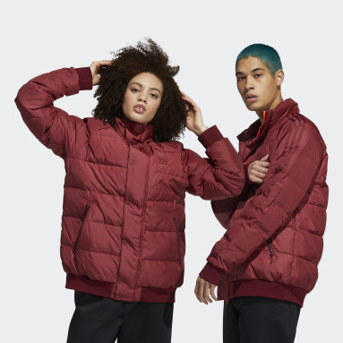 Originals Burgundy Jonah Hill Puff Jacket
