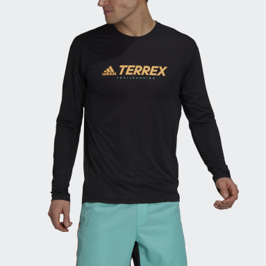 Men TERREX Black Terrex Primeblue Trail Long-Sleeve Top