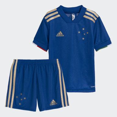 Mini Kit Cruzeiro 1 Azul Kids Futebol