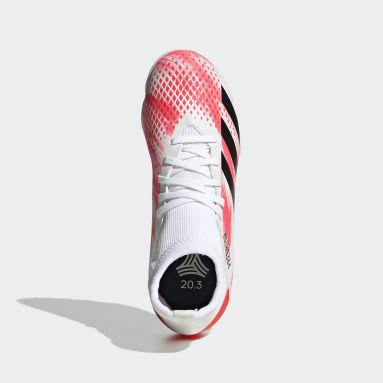 Boys Football White Predator 20.3 Turf Boots