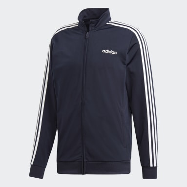 Men's Training Blue Essentials 3-Stripes Tricot Track Top