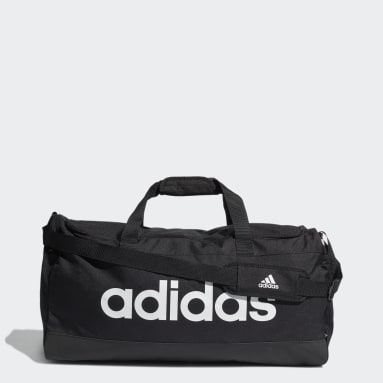 Lifestyle Black Essentials Logo Duffel Bag Large
