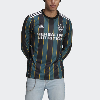 Men's Soccer Black LA Galaxy 21/22 Long Sleeve Away Jersey