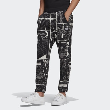 Heren Originals Zwart R.Y.V. Graphic Joggingbroek