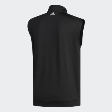 Men Golf Black Classic Club 1/4 Zip Vest