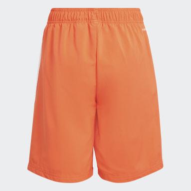 Boys Sport Inspired Orange adidas Essentials 3-Stripes Chelsea Shorts