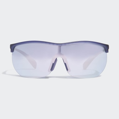 Running Purple SP0003 Shiny Black Injected Sport Sunglasses