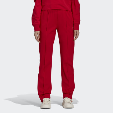 Women Y-3 Red Y-3 CL Fitted Track Pants