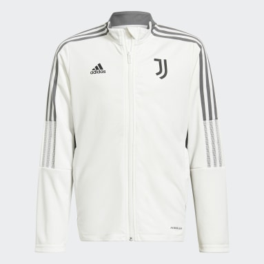 Kids Football White Juventus Tiro Tracksuit