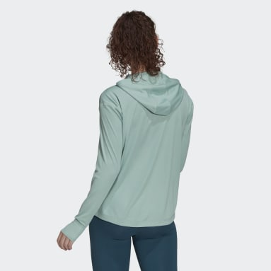 Women's Essentials Green AEROREADY Lightweight Long Sleeve Hooded Tee