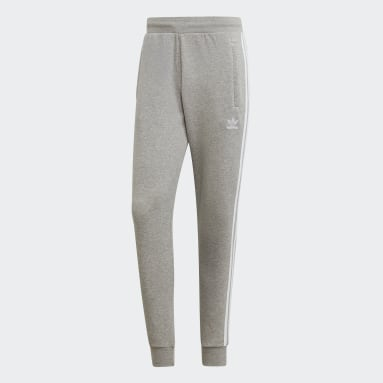 Men Originals Grey 3-Stripes Pants