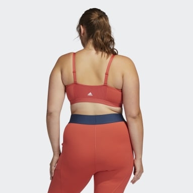 Women's Yoga Red All Me Branded Bra (Plus Size)