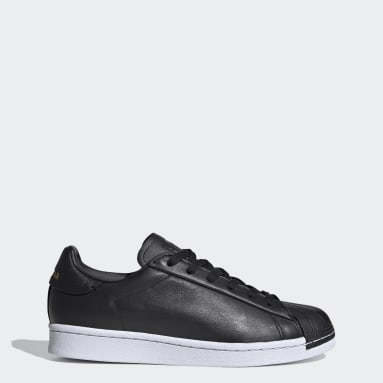 Dames Originals Zwart Superstar Pure Schoenen