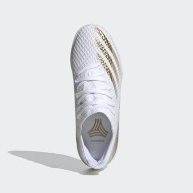 Zapatos de fútbol X Ghosted.3 Cancha Cubierta Blanco Niño Fútbol