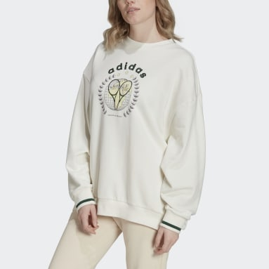 Sweat-shirt Tennis Luxe Graphic blanc Femmes Originals