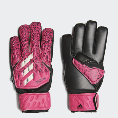 Barn Fotboll Rosa Predator Match Fingersave Goalkeeper Gloves