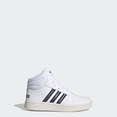 Kinder Basketball Hoops 2.0 Mid Schuh Weiß