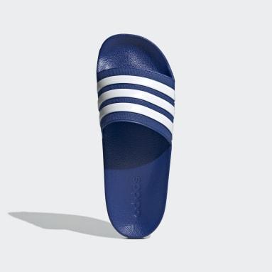 Men Swimming Blue Adilette Shower Slides