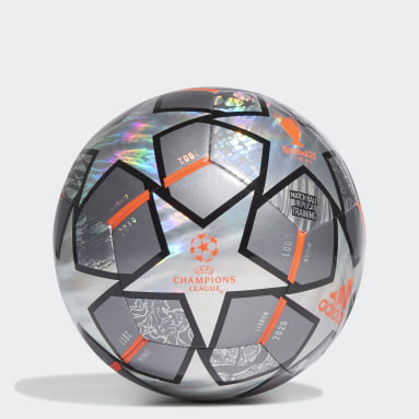 Men Soccer Grey Finale 21 20th Anniversary UCL Hologram Foil Training Ball