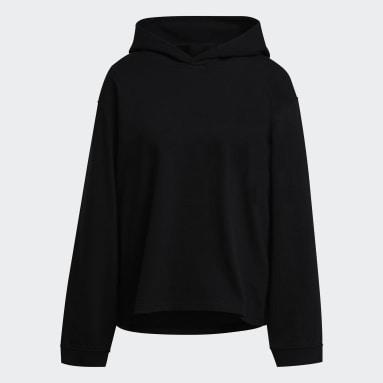 Sweat-shirt à capuche Y-3 CH3 Raw Terry Logo Noir Femmes Y-3