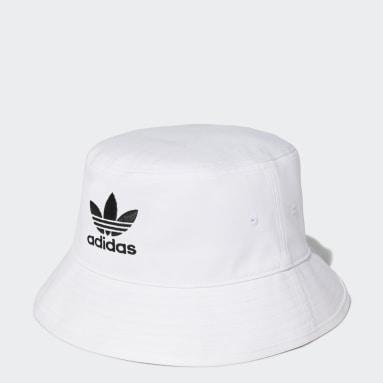 Cappello adicolor Trefoil Bucket Bianco Originals