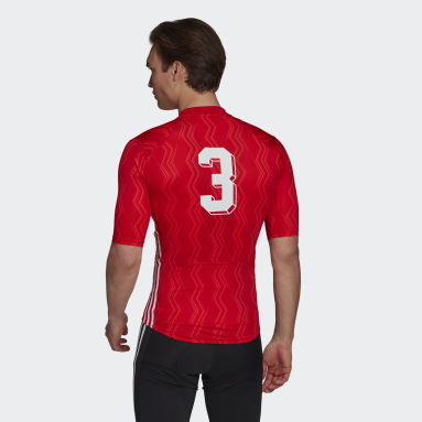 Men Cycling Red The Short Sleeve Cycling Graphic Jersey