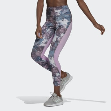 Women's Essentials Purple adidas x Zoe Saldana AEROREADY 7/8 Tights