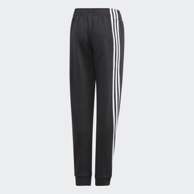 Genç Training Siyah 3-Stripes Tapered Leg Eşofman Altı
