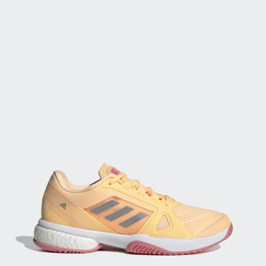 Women's Tennis Orange adidas by Stella McCartney Barricade Boost Shoes
