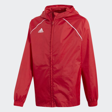 Kids Gym & Training Red Core 18 Rain Jacket