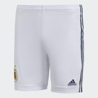 Shorts Visitante Argentina (UNISEX) Blanco Niño Fútbol