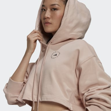 Women's adidas by Stella McCartney Pink adidas by Stella McCartney FuturePlayground Cropped Hoodie