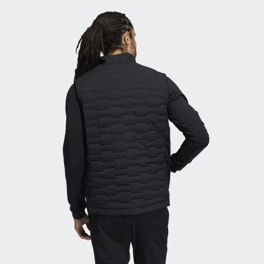 Men Golf Black Frostguard Full-Zip Padded Vest
