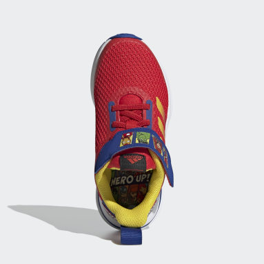 Children Running Red FortaRun Super Hero Shoes