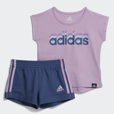 Infant & Toddler Training Purple Dance Tee and Shorts Set
