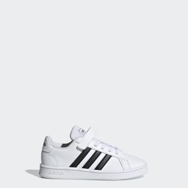 Chaussure Grand Court. blanc Enfants Essentials