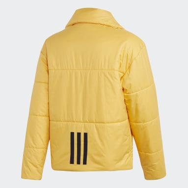 Men City Outdoor Yellow Big Baffle Bomber Jacket