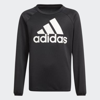 Jungen Fitness & Training adidas Designed To Move Big Logo Sweatshirt Schwarz